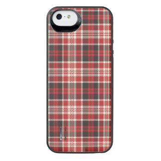 Rotes und schwarzes kariertes Muster iPhone SE/5/5s Batterie Hülle