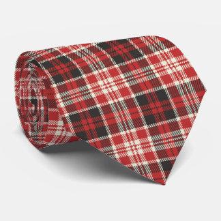 Rotes und schwarzes kariertes Muster Krawatte
