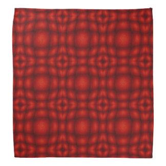 Rotes und schwarzes konvexes Illusions-Muster Halstuch