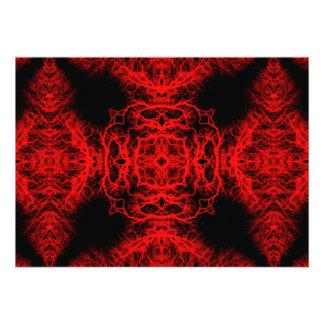 Rotes und schwarzes Muster Personalisierte Ankündigungskarte