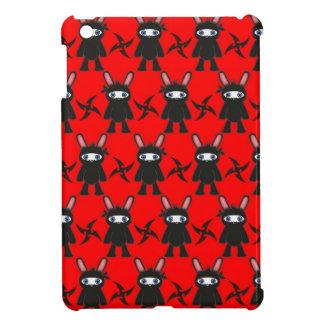 Rotes und schwarzes Ninja Häschen-Muster Hülle Für iPad Mini