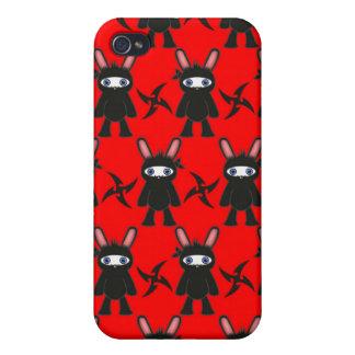 Rotes und schwarzes Ninja Häschen Pern iPhone 4 Schutzhülle