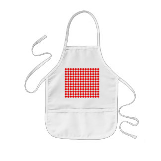 Rotes und weißes Diamant-Muster Kinderschürze