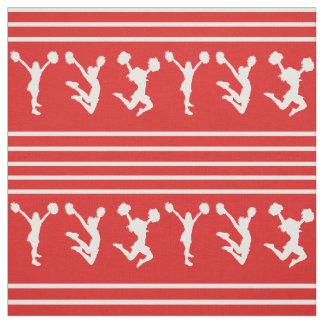 Rotes und weißes gestreiftes Cheerleading oder Pom Stoff