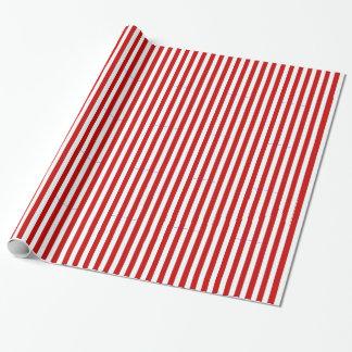 Rotes und weißes Streifen-Geschenk-Packpapier Geschenkpapier