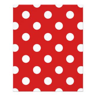 Rotes und weißes Tupfen-Muster Flyer
