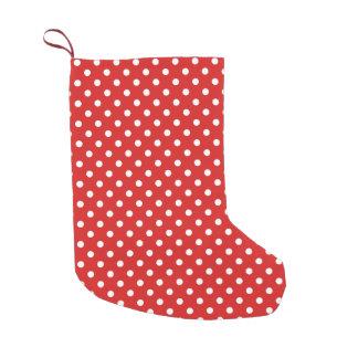Rotes und weißes Tupfen-Muster Kleiner Weihnachtsstrumpf
