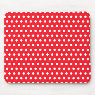 Rotes und weißes Tupfen-Muster. Spotty. Mousepads