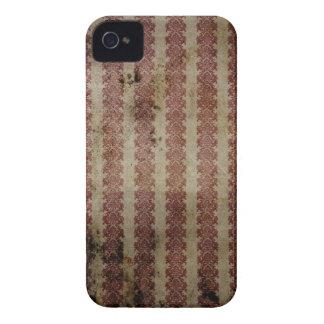 Rotes und weißes Vintages Druck-BlackBerry-mutiger iPhone 4 Etuis