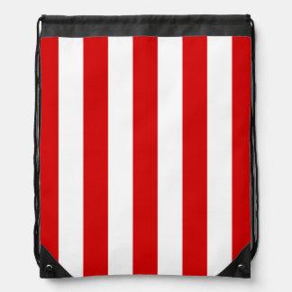 Rotes und weißes XL Stripes Muster Turnbeutel
