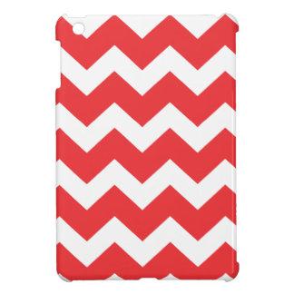 Rotes und weißes Zickzack Zickzackmuster iPad Mini Hülle