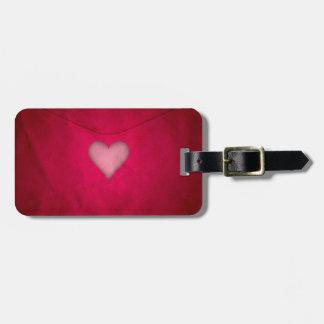 Rotes Valentinsgrußherz Gepäckanhänger