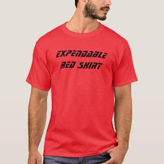 Rotes verbrauchbarShirt T-Shirt