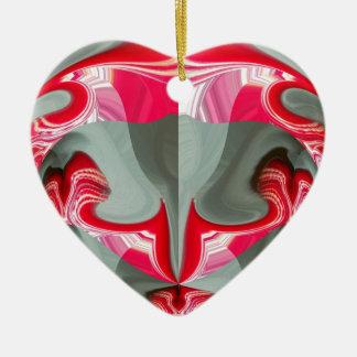 Rotes Vintages Hakuna Matata rundes gifts.jpg Keramik Herz-Ornament