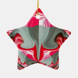 Rotes Vintages Hakuna Matata rundes gifts.jpg Keramik Stern-Ornament