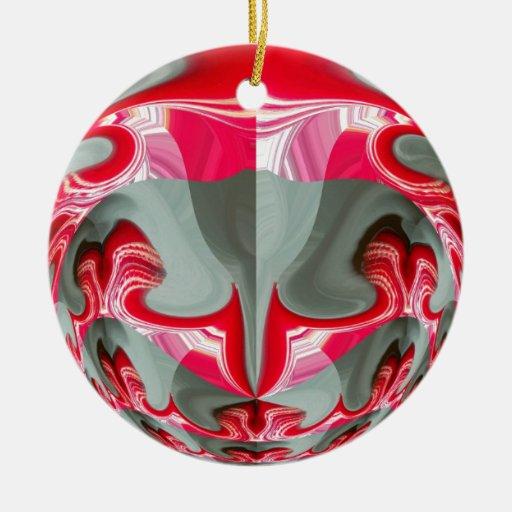 Rotes Vintages Hakuna Matata rundes gifts.jpg Weinachtsornamente