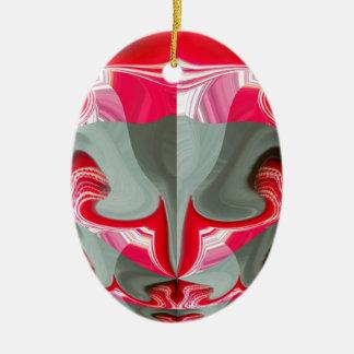 Rotes Vintages Hakuna Matata rundes gifts.jpg Ovales Keramik Ornament