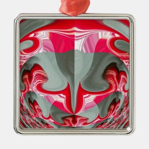 Rotes Vintages Hakuna Matata rundes gifts.jpg Weihnachtsornament