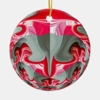 Rotes Vintages Hakuna Matata rundes gifts.jpg Rundes Keramik Ornament