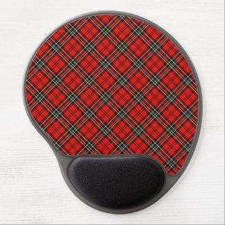 Rotes Vintages kariertes Gel Mousepad