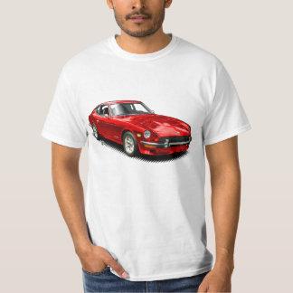 Rotes Vintages klassisches Z-Car-T-Shirt T-Shirt