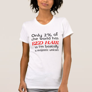 Rotes vorangegangenes majestätisches Einhorn T-Shirt