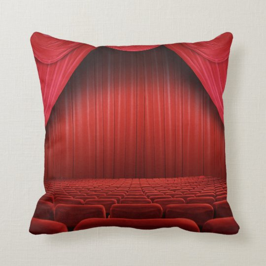 rotes vorhang theater wurfs couch kissen kissen zazzle. Black Bedroom Furniture Sets. Home Design Ideas