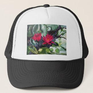 rotes waterlilies1 truckerkappe