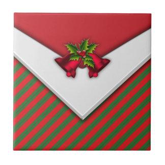 Rotes Weihnachten Bell Fliese