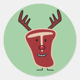 Rotes Weihnachten Nase des glücklichen Runder Aufkleber