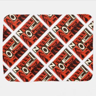 Rotes Weihnachten-Vintager Block-Druck Kinderwagendecke