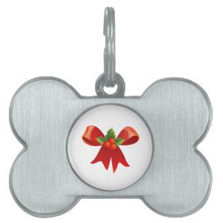 Rotes Weihnachtsband Tiermarke