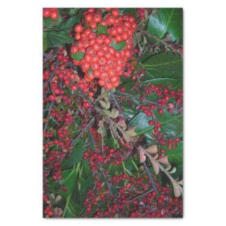 Rotes Weihnachtsbeeren-Seidenpapier Seidenpapier
