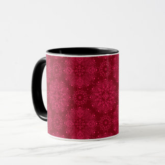 Rotes Weihnachtsmuster Tasse