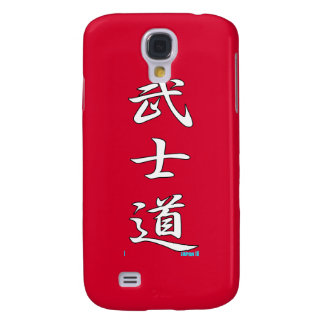 Rotes Weiß BUSHIDO SAMURAIS Galaxy S4 Hülle