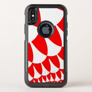 Rotes Weiß stuft iPhone X Kasten ein OtterBox Commuter iPhone X Hülle