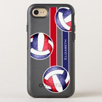 rotes weißes Blau des Volleyball der Frauen OtterBox Symmetry iPhone 8/7 Hülle