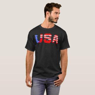 Rotes weißes Blau US Vereinigte Staaten USA T-Shirt