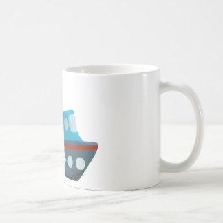 Rotes weißes blaues Kreuzschiff Kaffeetasse