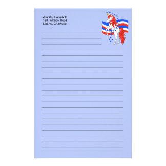 Rotes weißes blaues patriotisches amerikanisches briefpapier
