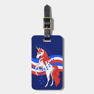 Rotes weißes blaues patriotisches amerikanisches kofferanhänger