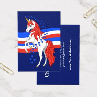 Rotes weißes blaues patriotisches amerikanisches visitenkarte