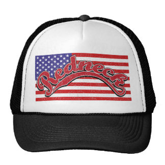rotes weißes blaues Schwarzes der Redneckflagge Truckerkappen