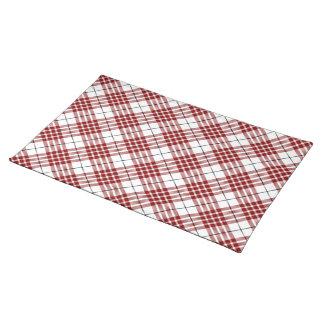 Rotes weißes kariertes Buchanan-Clan Tartan Tischset