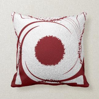 Rotes weißes Kissen abstrakt