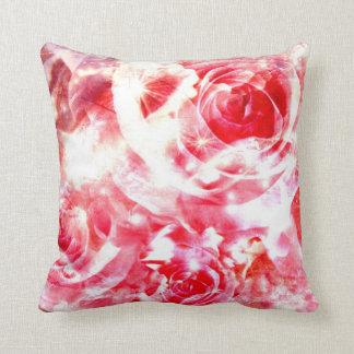 """rotes weißes Rosenhintergrund Throw-Kissen 20"""" x Kissen"""