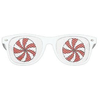 Rotes weißes sonnenbrille