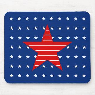 Rotes weißes u. blau, Sterne u. Streifen Mousepad