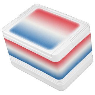 Rotes weißes u. blaues Ombre Igloo Kühlbox