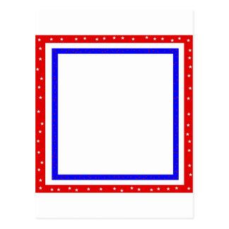 rotes weißes u. blaues US Flagge Postkarte